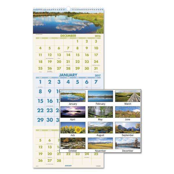 Visual Organizer Scenic 3-Month Wall Calendar
