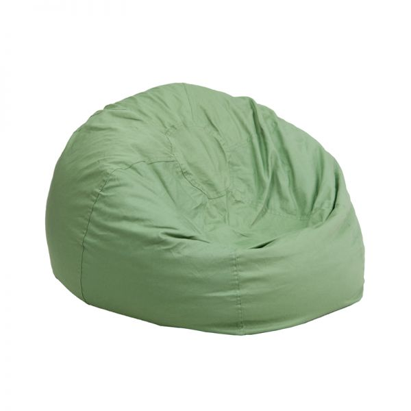 Flash Furniture Small Solid Green Kids Bean Bag Chair