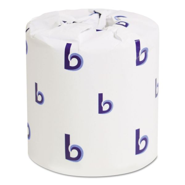 Boardwalk Toilet Paper, 2-Ply, White, 4 1/2 x 3 3/4 Sheet, 500 Sheets/Roll, 96 Rolls/Carton