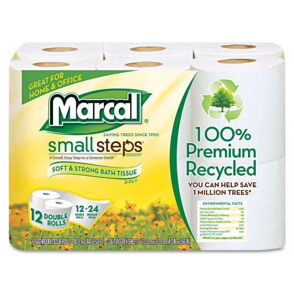 Marcal Small Steps 100% Recycled Double Roll 2 Ply Toilet Paper