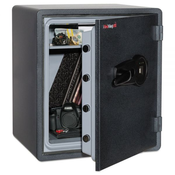 FireKing One Hour Fire and Water Safe w/Biometric Fingerprint Lock, 5.5 cu. ft, Graphite