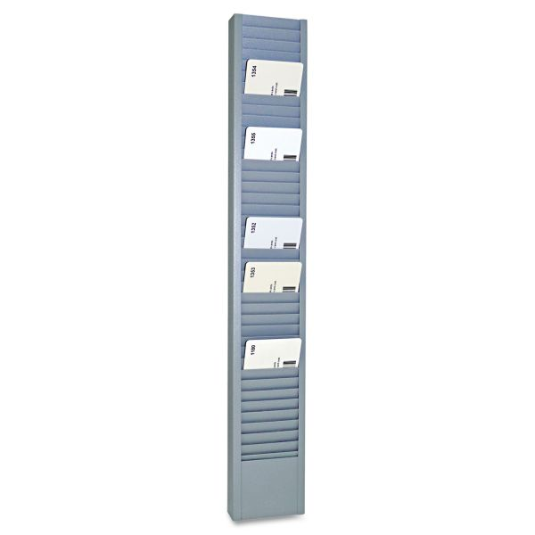 "SteelMaster 40-Pocket Steel Swipe Card/Badge Rack, 2-15/16"" x 18-11/16"""