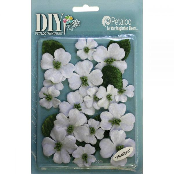 "DIY Paintables Canvas Dogwood Blossoms 1"" - 1.5"" 24/Pkg"