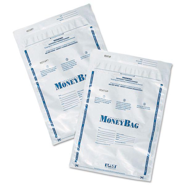 PM Company SecurIT Tamper-Evident Deposit Bags, 9 x 12, Plastic, White, 100 per Pack