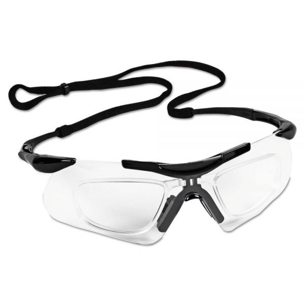Jackson Safety* V60 Nemesis Rx Reader Safety Glasses,  Black Frame, Clear Anti-Fog Lens,12/Ctn
