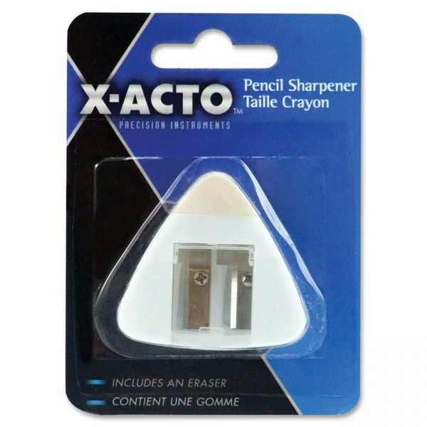 X-Acto Triangle Handheld Pencil Sharpener with Eraser