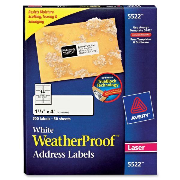 Avery 5522 WeatherProof Address Labels