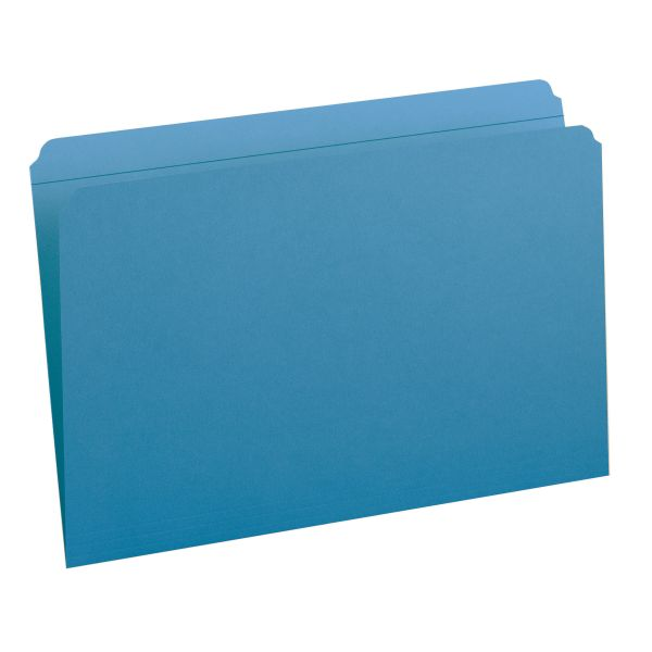 Smead 17010 Blue Colored File Folders with Reinforced Tab