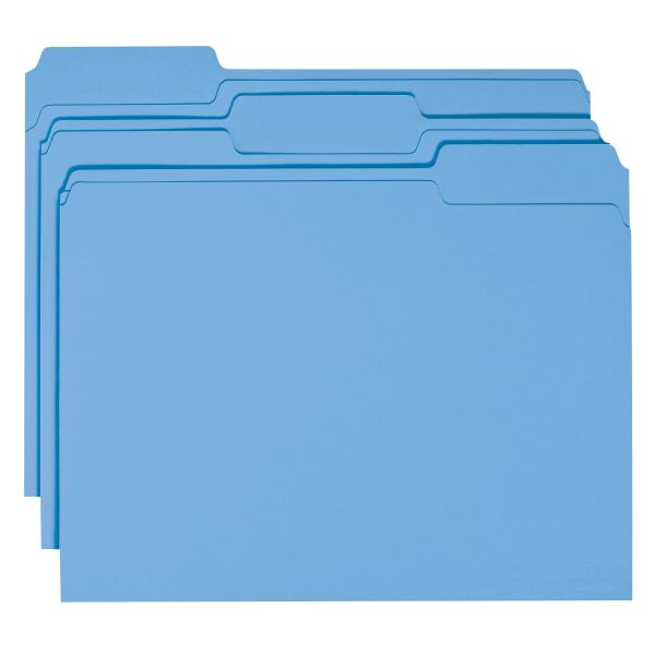 Smead Blue Colored File Folders