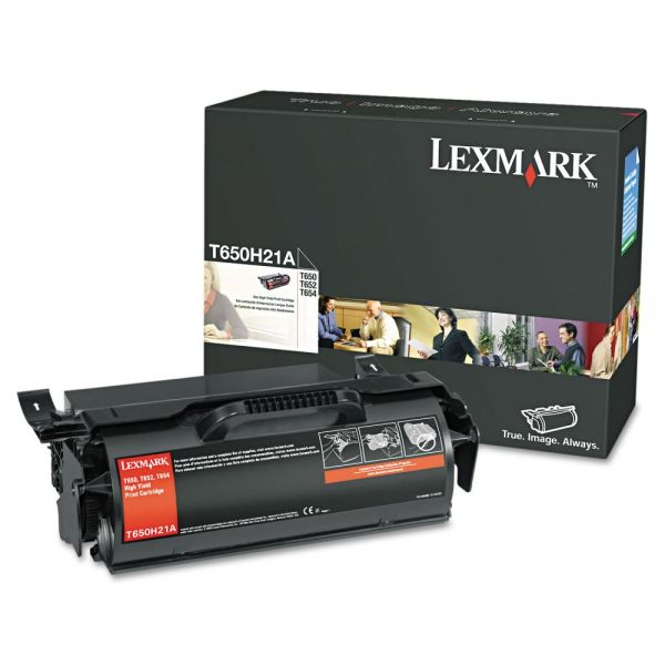 Lexmark T650H21A Black Toner Cartridge