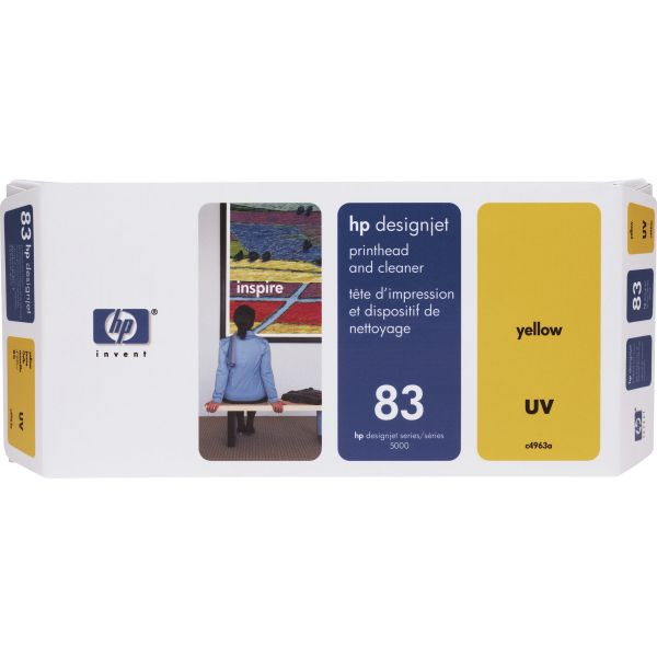 HP 83 (C4963A) UV Yellow Printhead and Cleaner