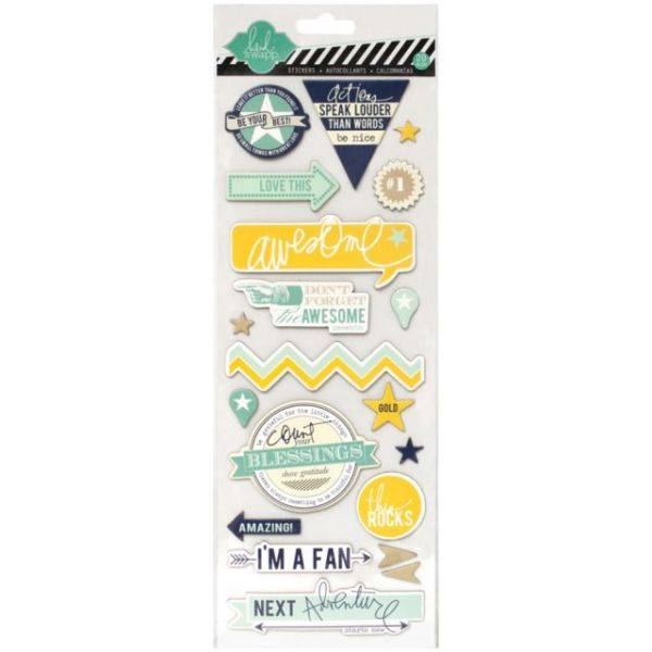 "Heidi Swapp Mixed Media Chipboard Stickers 4.5""X12"" Sheet"