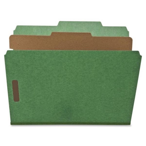 Nature Saver Green 1-Divider Classification Folders