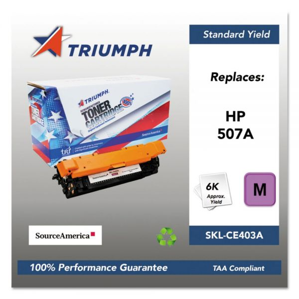 Triumph Remanufactured HP 507A (CE403A) Toner Cartridge