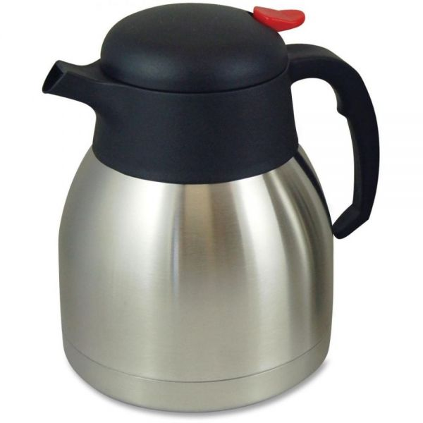 Genuine Joe Double Wall Stnls Vacuum Insulated Carafe