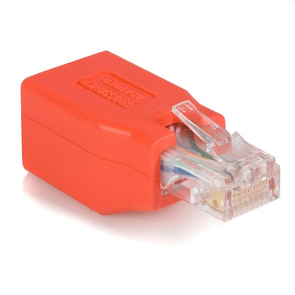StarTech.com Crossover adapter - RJ-45 (M) - RJ-45 (F) - Gigabit - ( CAT 6 ) - red