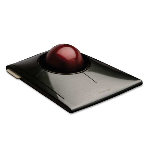 Kensington SlimBlade Trackball, Graphite with Ruby Red Trackball