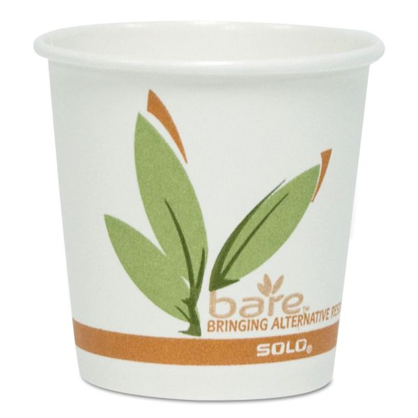 SOLO Bare Eco-Forward 4 oz Coffee Cups