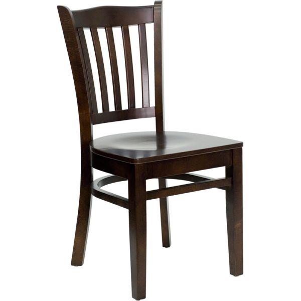 Flash Furniture Vertical Slat Back Wooden Restaurant Chair