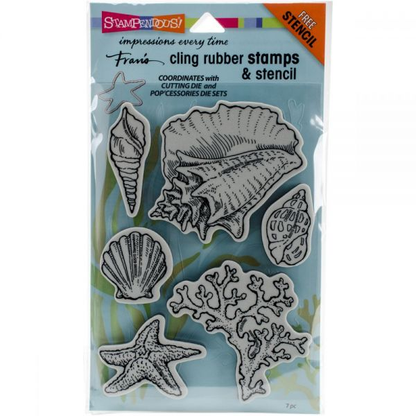 "Stampendous Fran's Cling Stamps & Stencils 5""X7"""