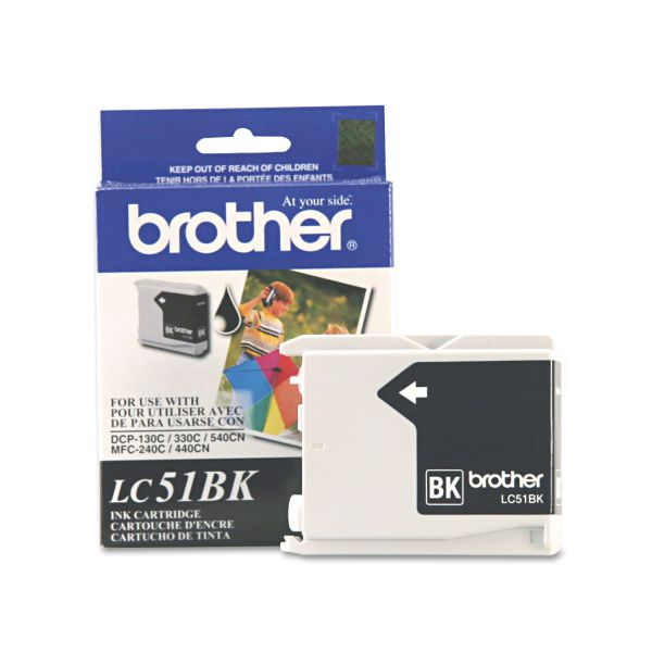 Brother LC51BK Innobella Ink, 500 Page-Yield, Black