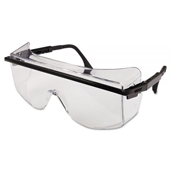 Honeywell Uvex Astro OTG 3001 Safety Spectacles, Black Frame