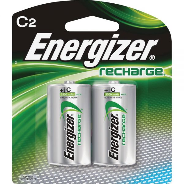 Energizer NiMH e2 Rechargeable C Batteries