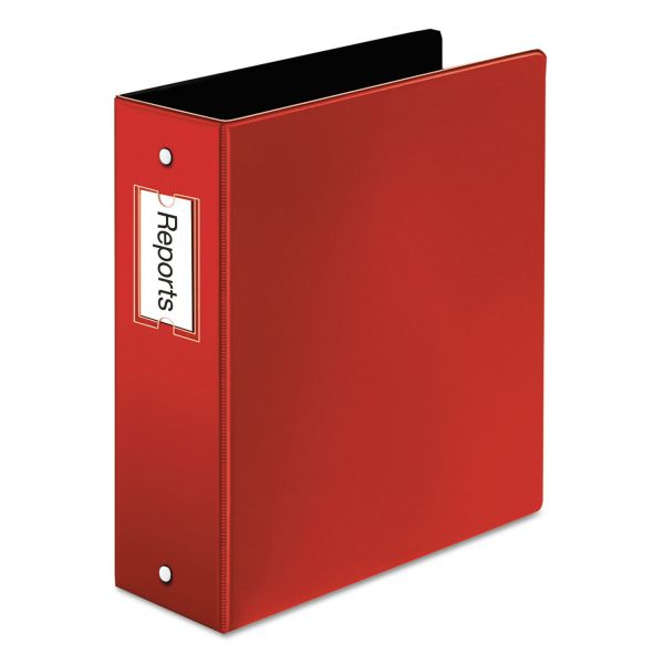 "Cardinal Premier Easy Open Locking 3-Ring Binder, 3"" Capacity, Round Ring, Red"