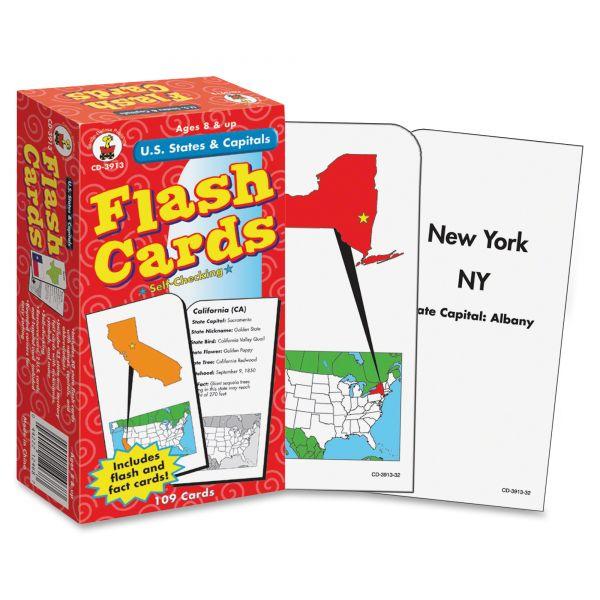 U.S. States & Capitals Flash Cards