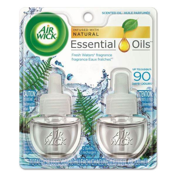 Air Wick Scented Oil Refill, Fresh Waters, 0.67oz, 2/Pack