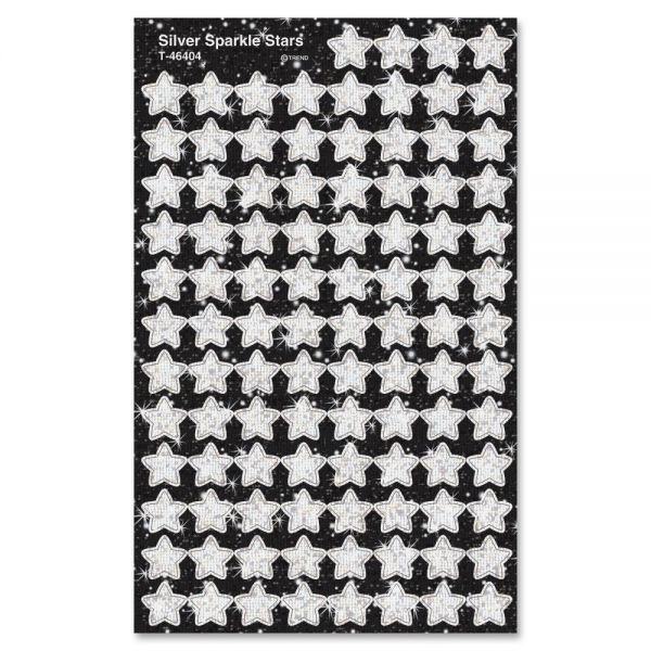Trend Sparkle Silver Stars superShapes Stickers