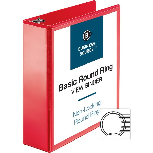 Business Source Round Ring Binder