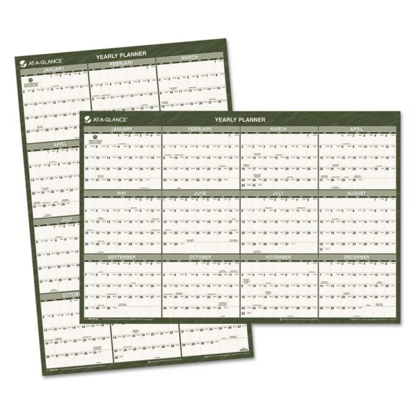 AT-A-GLANCE Recycled Yearly Wall Calendar