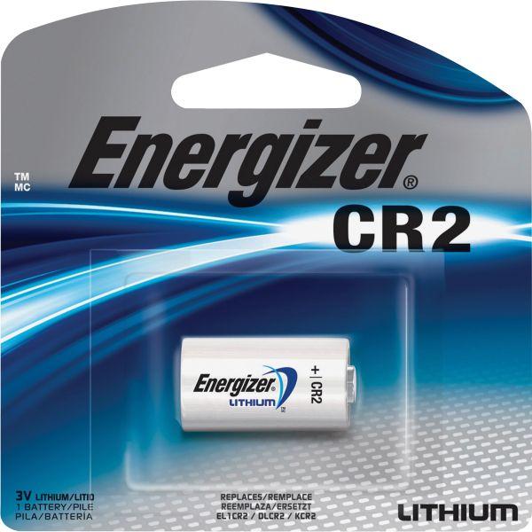 Energizer Lithium Photo Battery, CR2, 3V, 1 Battery/Pack