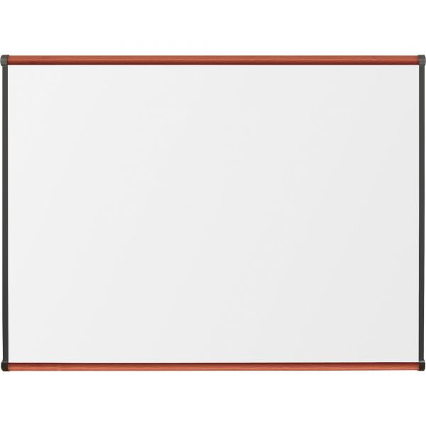 "Lorell 48"" x 36"" Superior Surface Melamine Dry Erase Whiteboard"