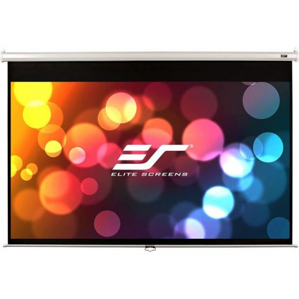 """Elite Screens M120XWV2 Manual Ceiling/Wall Mount Manual Pull Down Projection Screen (120"""" 4:3 Aspect Ratio) (MaxWhite)"""