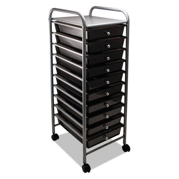 Advantus 10-Drawer Mobile Organizer Cart