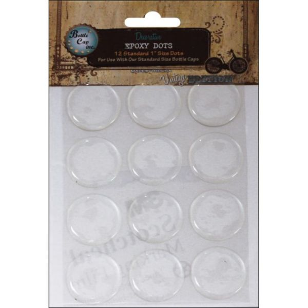 "Vintage Collection Epoxy Dots 1"" 12/Pkg"