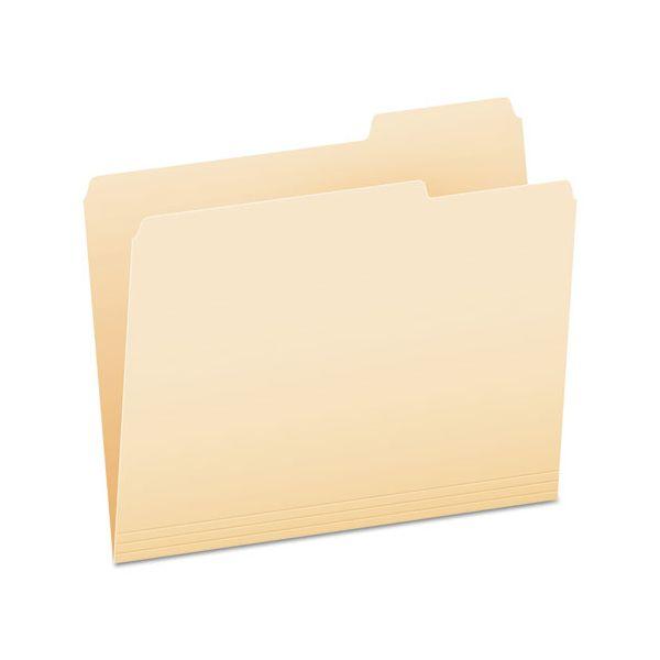 Pendaflex File Folders, 1/3 Cut, Third Position, Top Tab, Letter, Manila, 100/Box