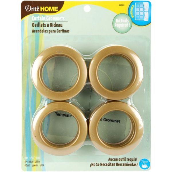 """Curtain Grommets 1-9/16"""" Inner Diameter Plastic 8/Pkg"""