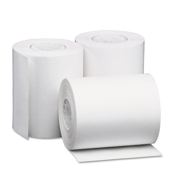 """Universal Single-Ply Thermal Paper Rolls, 2 1/4"""" x 80 ft, White, 50/Carton"""