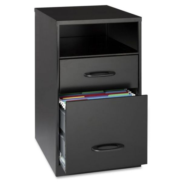 Lorell Home Office 2 Drawer Vertical File Cabinet with Shelf