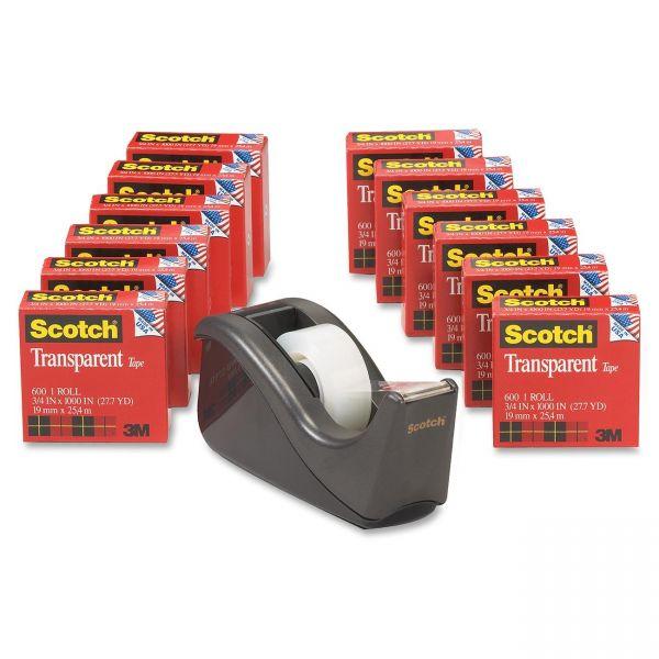 Scotch Premium Transparent Tape Refills & Dispenser