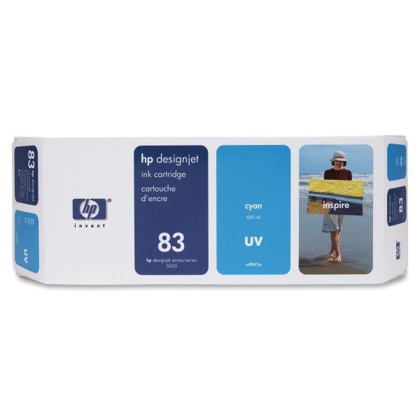 HP 83 UV Cyan Ink Cartridge (C4941A)