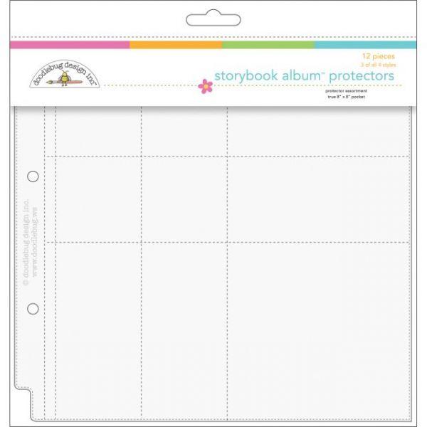 "Doodlebug Page Protector Assortment 8""X8"" 12/Pkg"