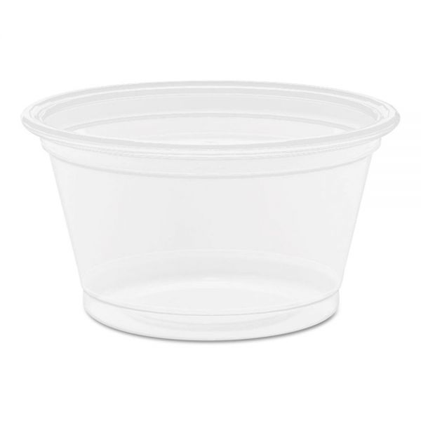 Dart Conex Complements® Translucent Portion Container, .75oz, Round, 125/PK, 20 PK/CT