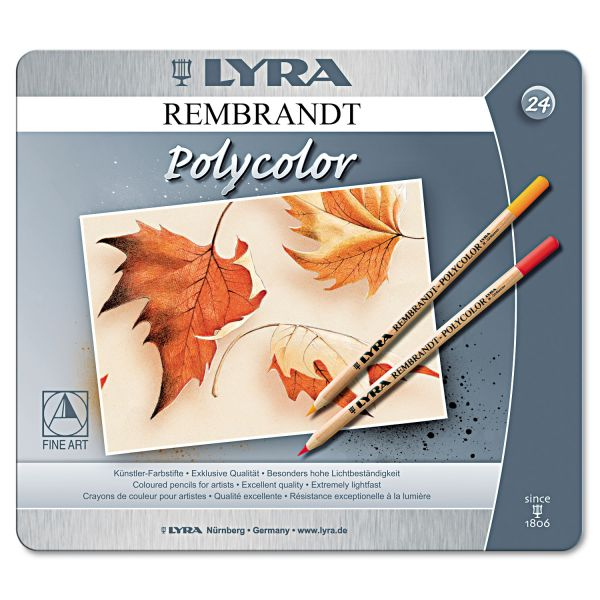LYRA Artist Colored Woodcase Pencils, Assorted, 24/Pack