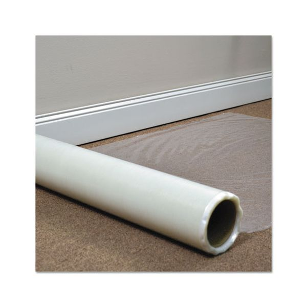 ES Robbins Roll Guard Temporary Floor Protection Film for Carpet, 24 x 2400, Clear