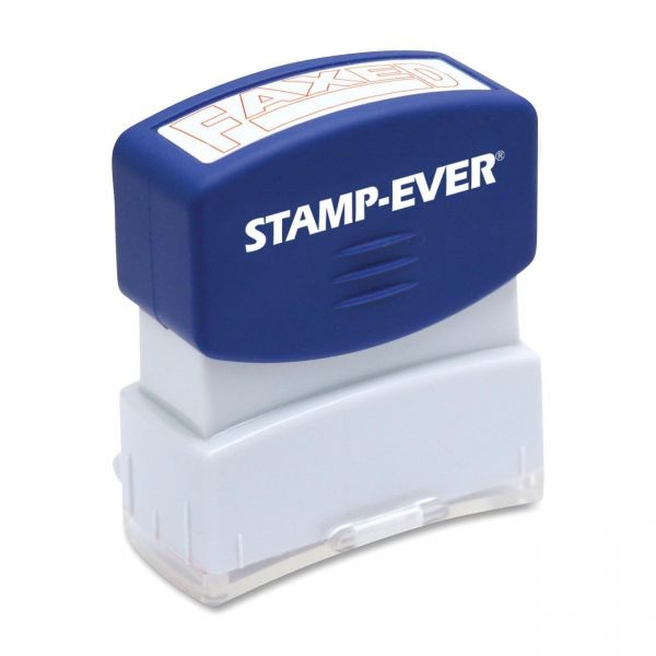 U.S. Stamp & Sign Pre-Inked Red Faxed Stamp