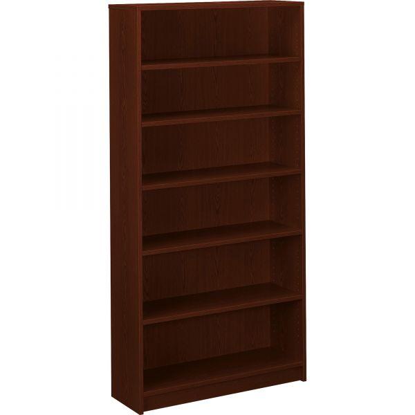 HON 1870 Series Bookcase, Six Shelf, 36w x 11 1/2d x 72 5/8h, Mahogany